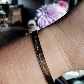 Tekst Armband | Cuff (6mm)