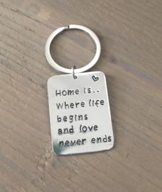 Sleutelhanger met tekst | Home