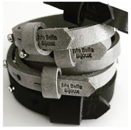 Vader & Kids Tekst Armbanden | met kids armband ElephantGrey