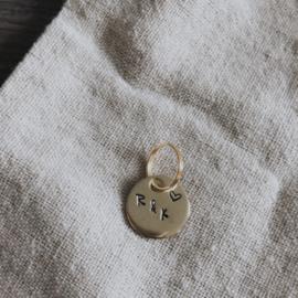 Sleutelhangertje - goud - met initialen