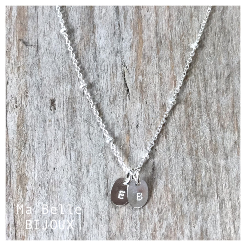 ketting Initial mini coin | .925 zilver