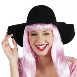 Zwarte hoed zomers