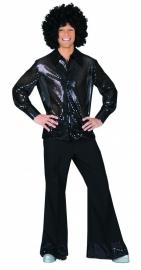 Glitter blouse zwart / black