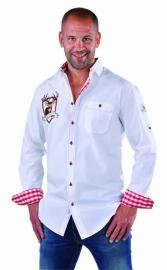 Overhemd wit Tiroler