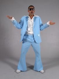 Lichtblauw disco pak