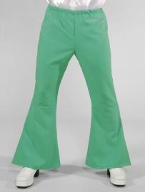 Groene Disco wijde pijpen broek