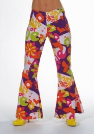 Flower power broek