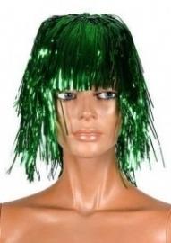 Folie pruik Groen