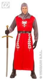 King Arthur kostuum rood