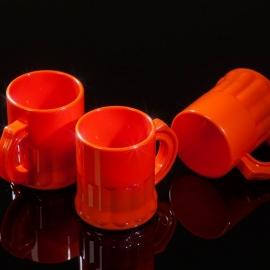 Shotglaasjes 2,5cl. oranje 10 stuks
