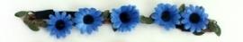 Hoofdbandje bloem blauw
