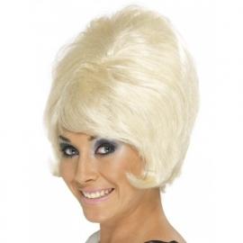 60`s hoge pruik blond