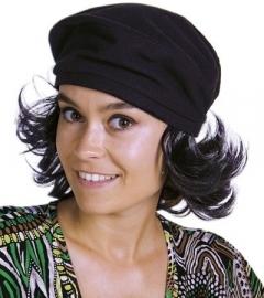 Cuba pruik met baret