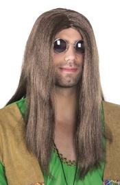 Bruine pruik John Lennon