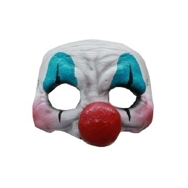 Latex half masker clown