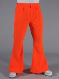 Disco / 70`s wijde pijpen broek oranje