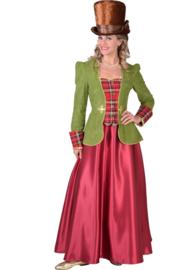 Victoriaanse dame groen luxe