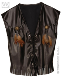 Cowboy vest leatherlook