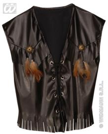 Cowboy vest leatherlook