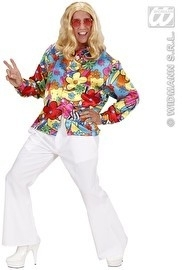 Flower power heren blouse