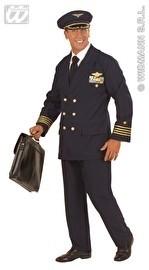 Luxe piloten kostuum blauw