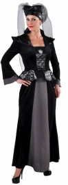Middeleeuwse jurk zwart/grijs