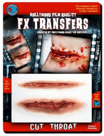 3D FX transfers doorgesneden keel