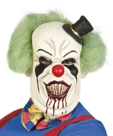 Latex masker horror clown