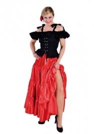 Plooi rok rood modern