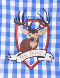 Overhemd blauw Tiroler