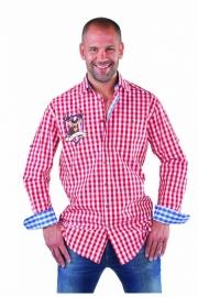 Overhemd rood Tiroler