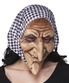 Latex masker creepy witch