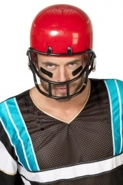 American football helm rood