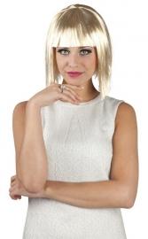 Pruik glamour blond met tinsel