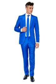 Solid blue suitmeister kostuum