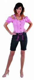 Zwart/roze Trachtenhose