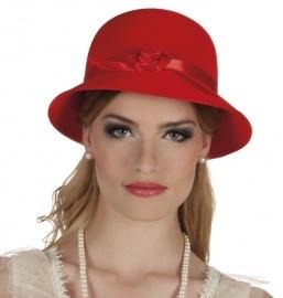 Charleston hoedje rood