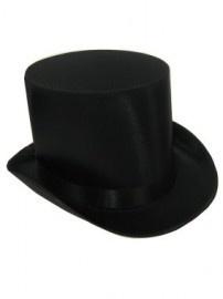Hoge hoed satijn de luxe