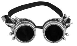 Cyberpunk bril zilver deluxe