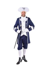 Markies kostuum blauw deluxe