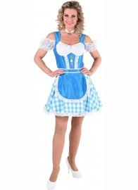 Tiroolse jurk bont turqoise