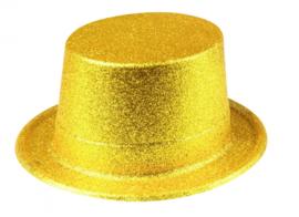 Hoge hoed glitter goud