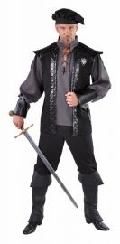 Kostuum Landheer zwart