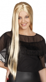 Pruik Charming lang blond