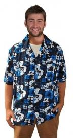 Hawai blouse blauw