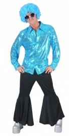 Glitter blouse Aqua / blauw