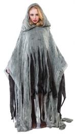Poncho grijs scary