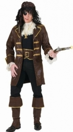 Piraat pak luxe bruin