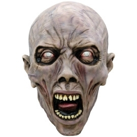 Latex masker screaming zombie