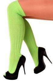 Groene kniekousen neon